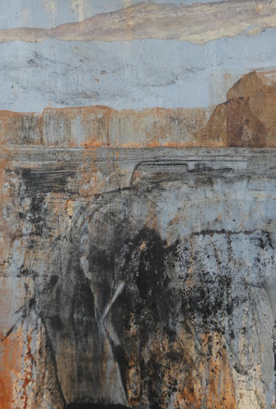 Distant cliffs collage