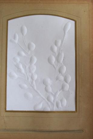 Paper embossed using lino cut