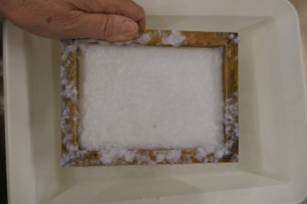 Deckle, mould and paper