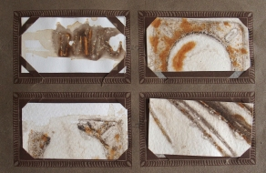 Rust printing and embossing